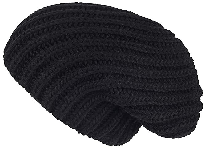 7f8f642d6dc Lilax Cable Knit Slouchy Chunky Oversized Soft Warm Winter Solid Beanie Hat  Black