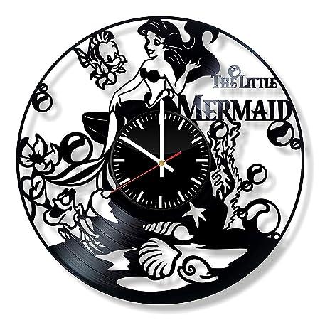 The Little Mermaid Ariel Vinyl Clock - Disney Wall Art Room ...