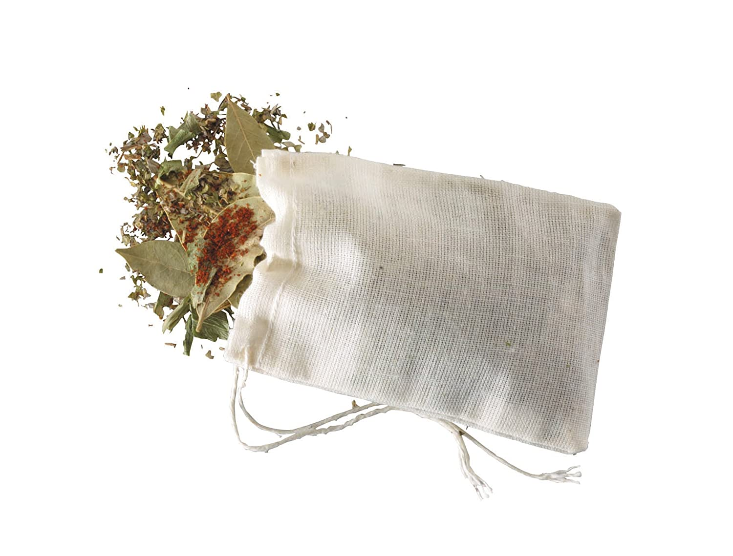 KitchenCraft Home Made Pack of 4 Spice Bags KCSPBAGS
