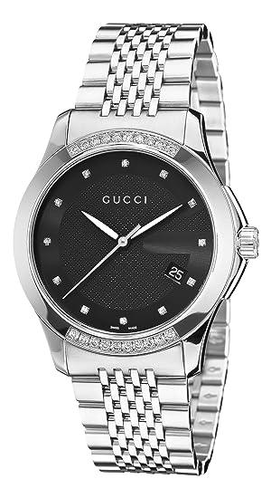 477e8175f35 Gucci G Timeless Black Dial Diamond Unisex Watch YA126408  Watch  Gucci   Gucci  Amazon.ca  Watches