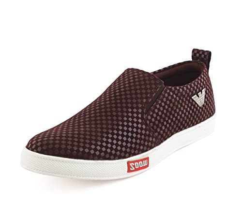 fa7fab62201e AORFEO Brown Unisex Casual Shoes Sneakers For Men and Women No Lace Casuals  CASUAL67 10  Buy Online at Low Prices in India - Amazon.in