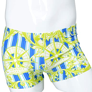 963a0ced55 Image Unavailable. Image not available for. Color: Versace Collection Multi-Color  Drawstring Men's Swimming Shorts ...