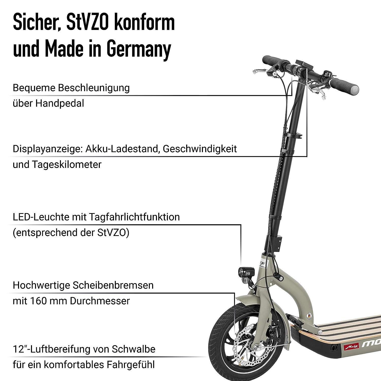 E-Scooter mit Zulassung in DE Metz moover Legal sicher und Made in Germany