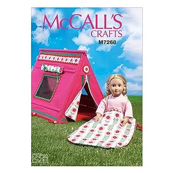 MCCALL s Patterns mc7268osz muñecas Saco de Dormir y Tienda de campaña