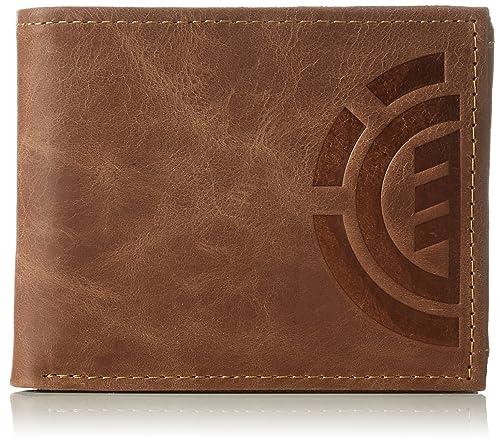 4a2a6c147 Element Z5LWA4 ELF6 - Billetera de Cuero Hombre, Color Marrón, Talla 11x9x2  cm (