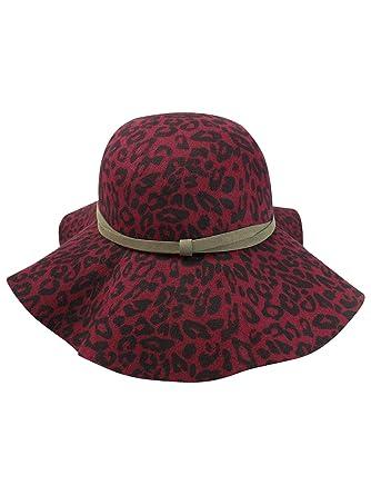 9cf1836bf1c95 Luxury Divas Leopard Print Wool Floppy Hat