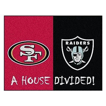 NFL House Divided   49ers/Raiders Rug, 34u0026quot; X 45u0026quot;/Small