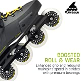 Rollerblade Twister Edge Men's Adult Fitness Inline Skate, Black and Yellow, High Performance Inline Skates, 9