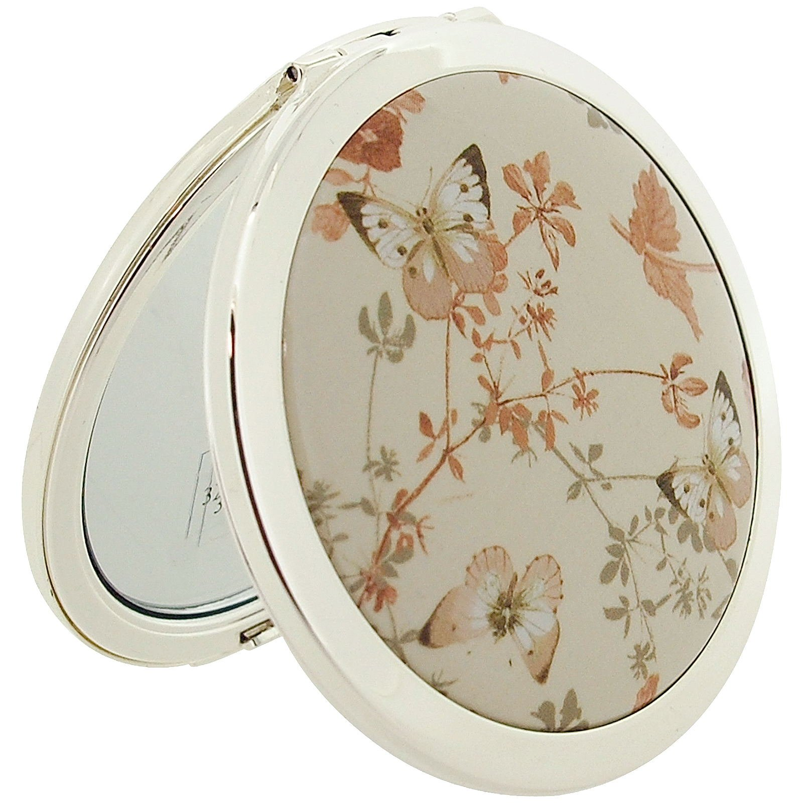 Stratton Compact Mirror Ladies Heritage Collection Butterfly Design 3x Magnification Pocket Mirror ST1151