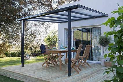 Terrassen überdachung Trend 312 X 250 Cm Anthrazitgrau Ral 7016