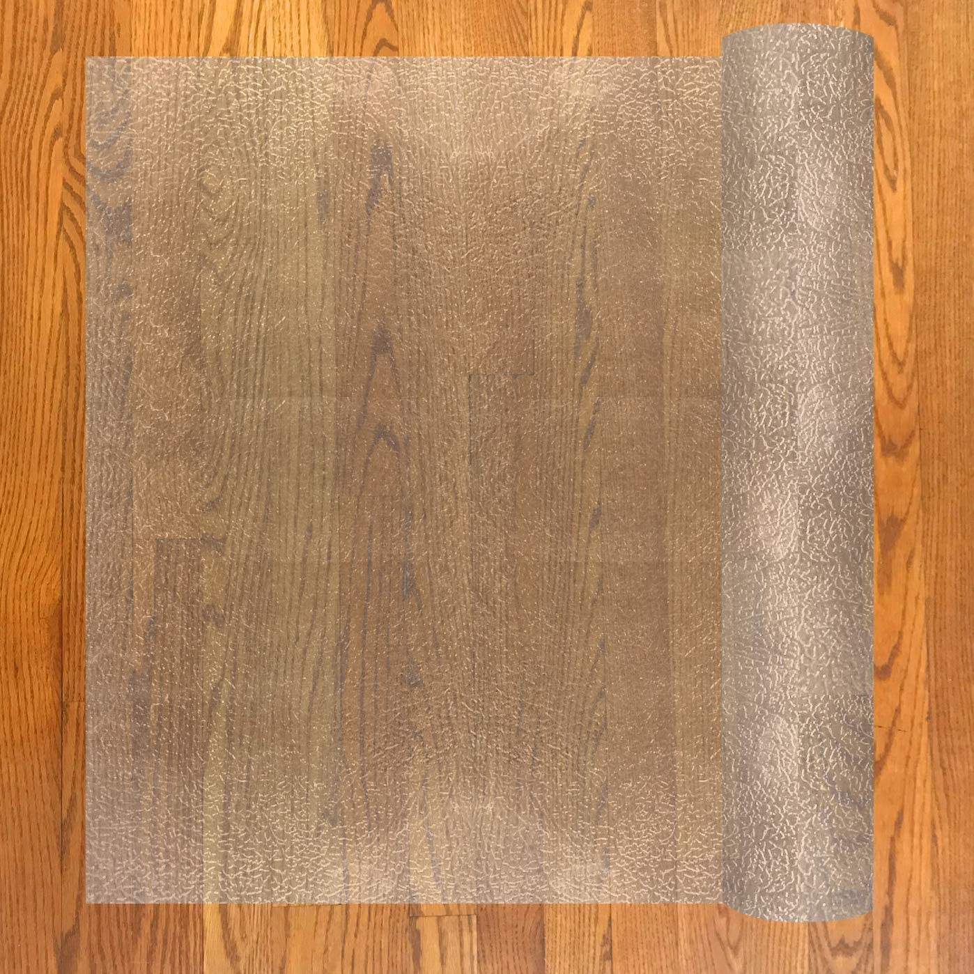 Resilia - Deluxe Clear Vinyl, Plastic Floor Runner/Protector for Hardwood Floors - Skid-Resistant, Textured Pattern, Extra Wide (48 Inches Wide x 12 Feet Long)