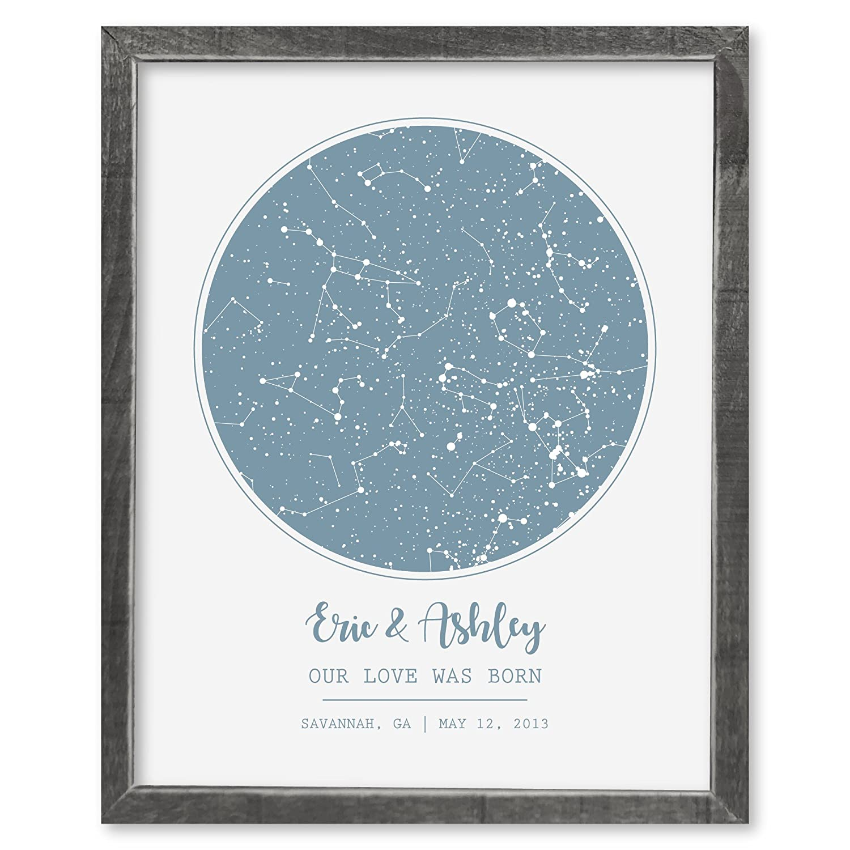 Amazon com: SmoothToast Night Sky Star Map Art, 24