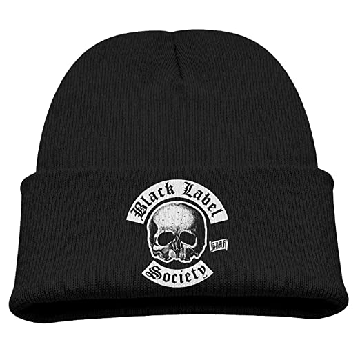 d5ba792079cd0 Black Label Society Heavy Metal Band Child Hats Slouchy Beanies Hat Small  Cap Black