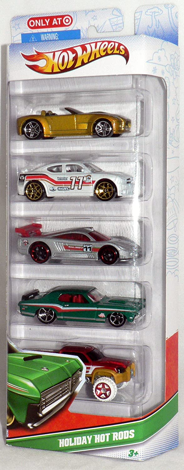 Hot Wheels V8729 5 5 5 er Set Hot Wheels Cars - Holiday Hot Rods Fahrzeuge 515755