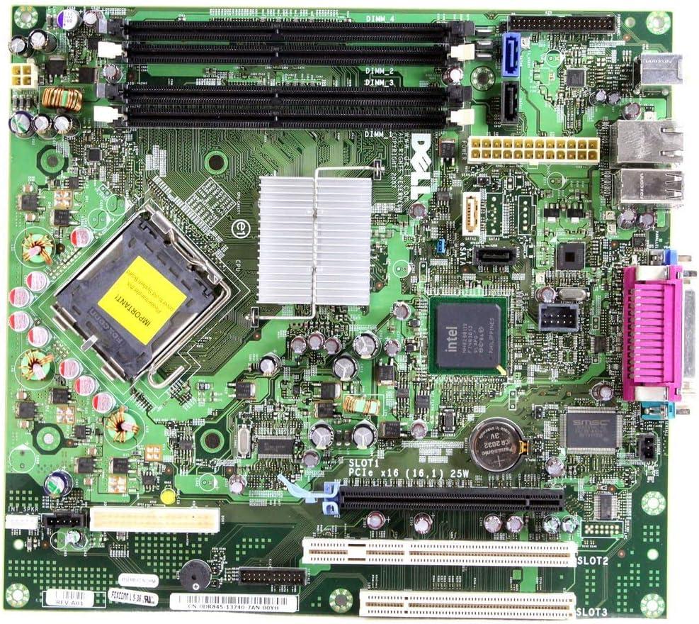 Genuine OEM Dell Optiplex 755 Desktop Motherboard Logic System Main Board Assembly DR845 WX729 Intel DDR2 Ram LGA775 Socket (Renewed)