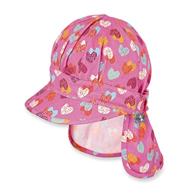 Sterntaler Cap with Visor and Neck Protection, Gorra para Niñas: Amazon.es: Ropa y accesorios