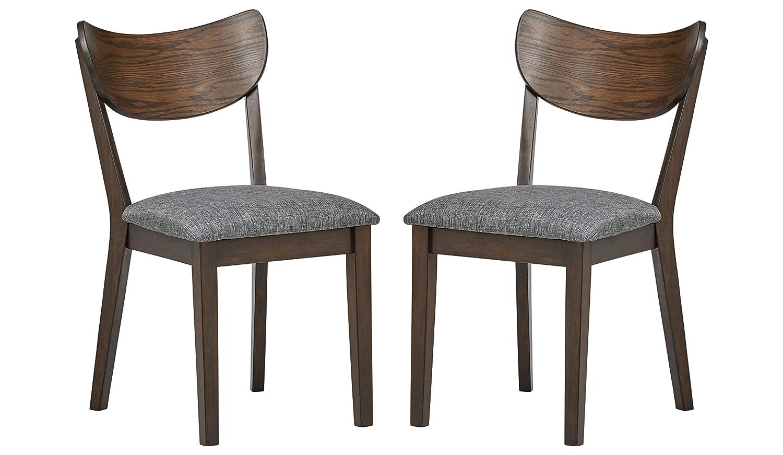 Superb Amazon Com Rivet Mid Century Modern Kitchen Curved Back Machost Co Dining Chair Design Ideas Machostcouk
