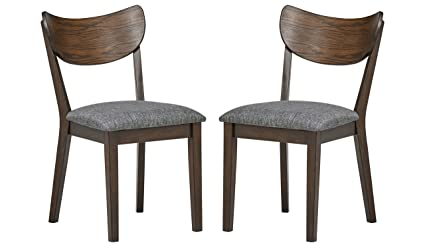 Amazoncom Rivet Mid Century Curved Back Dining Chairs 18w Set