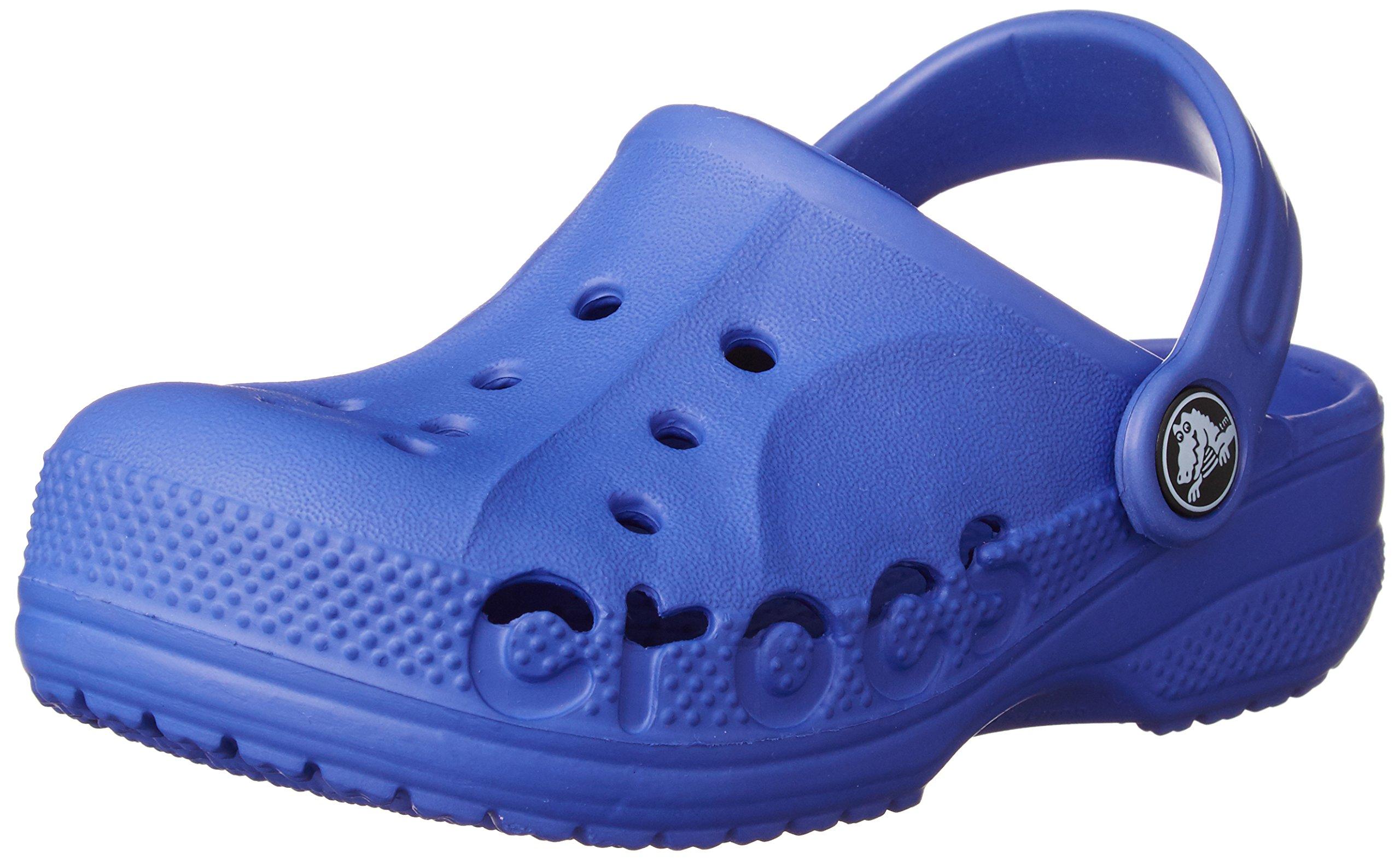 Crocs Boys Baya Kids Clog, Cerulean Blue, 3 M US Little Kid