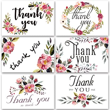 Dream Planer Thank You Karten Blumen Grußkarten Notizen für Hochzeit ...
