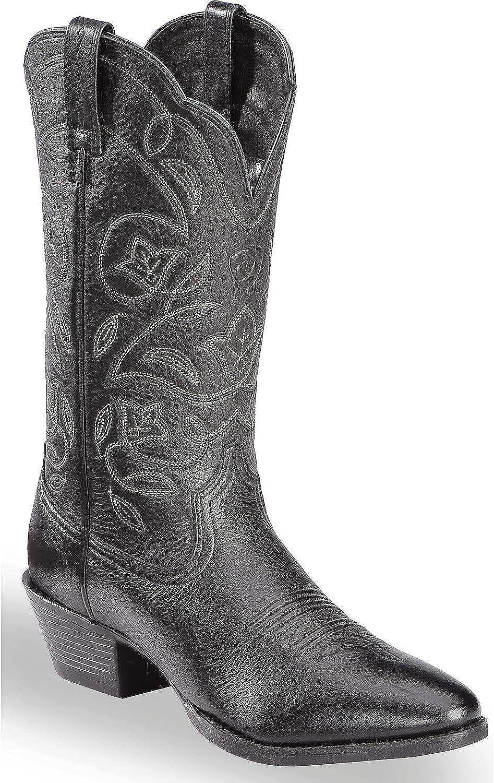 ARIAT Women's Western Deercowboy Boot Medium Toe Black 5.5 BMF (M) US