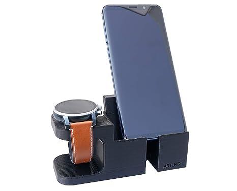 Artifex Design: Soporte de carga para reloj inteligente Fossil Q Explorist HR, Q Venture HR 4ª generación. No sirve para modelos de antes de 2017 o ...