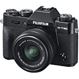 Fujifilm X-T30 Mirrorless Digital Camera, Black with Fujinon XC15-45mm Optical Image Stabilisation Power Zoom Lens kit…