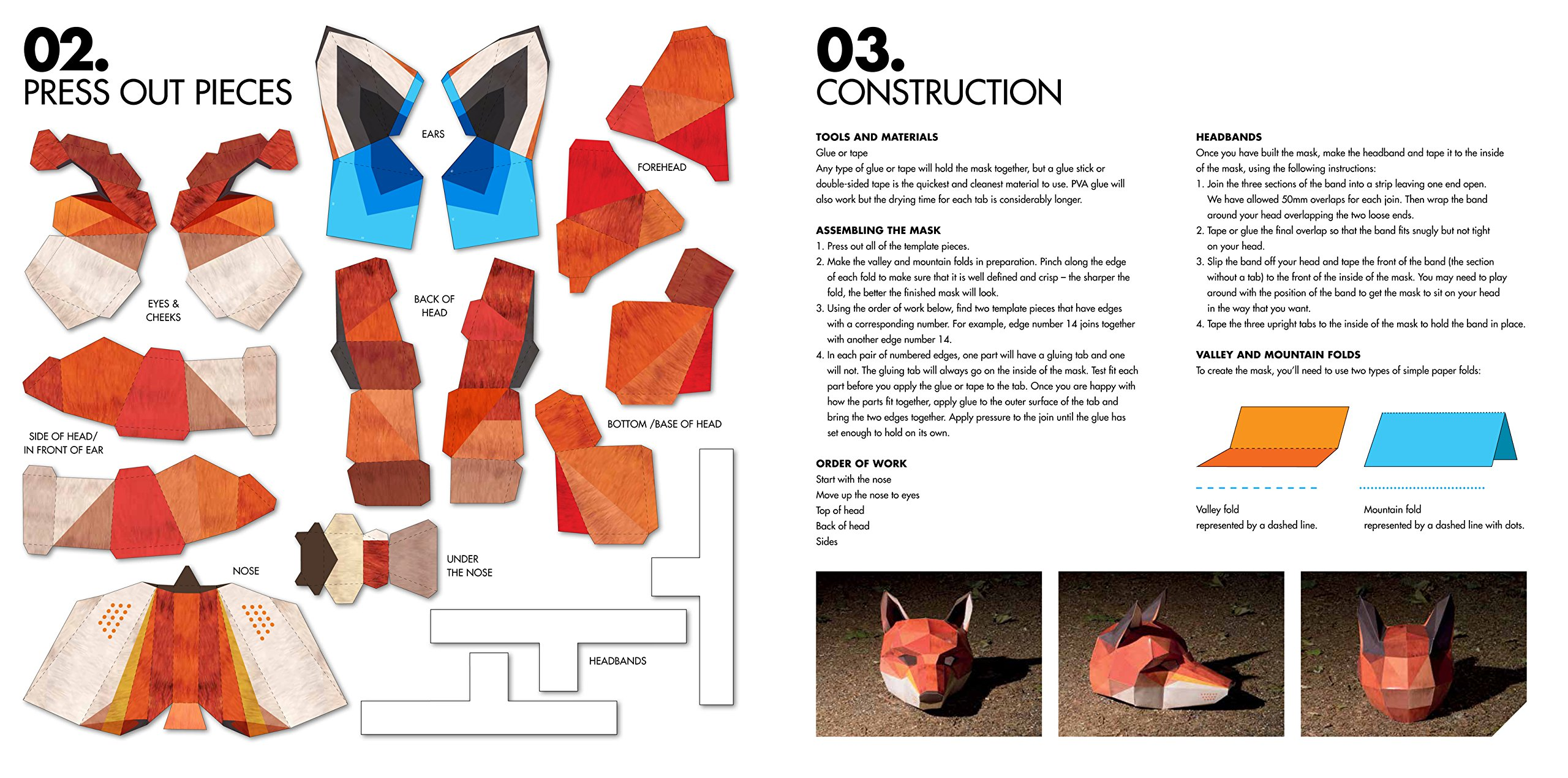 the fox an enchanting press out mask for parties festivals