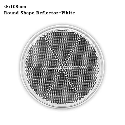 MFC PRO 2Pcs 4.2 Inch Round Warning Reflectors for Car Truck Bike Boat Trailer Van Lorry Bus Caravan (White, 108MM /Adhesive): Automotive