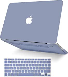 """KECC Laptop Case for MacBook Air 13"""" w/Keyboard Cover Plastic Hard Shell Case A1466/A1369 2 in 1 Bundle (Lavender Grey)"""