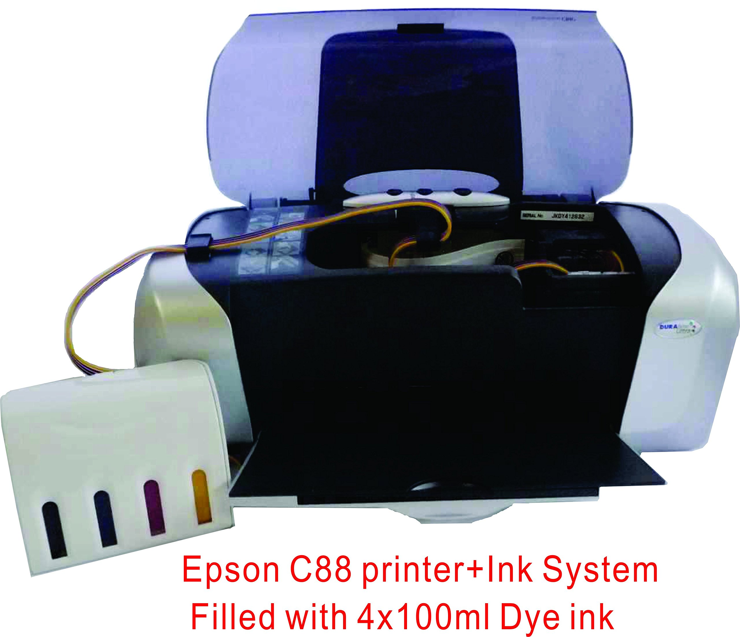 15x15'' Flat Heat Press A4 Epson Printer Paper Ink CISS Start-up KIT T-shirts by TRANSGERWORLD (Image #5)