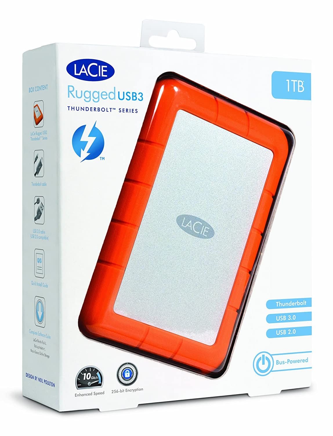 Amazon.com: LaCie Rugged Thunderbolt And USB 3.0 1TB 9000488 With Ivation  Compact Portable Hard Drive Case: Computers U0026 Accessories