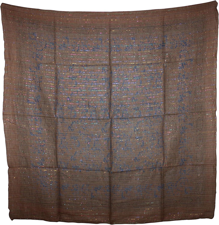 Freak Scene Sciarpa di cotone /° Modello dallIndia 1 /° stoffa quadrata