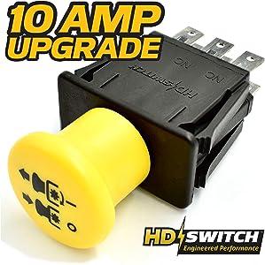 HD Switch Clutch PTO Switch Replaces Exmark Toro 103-5221 - Free 10 AMP Upgrade