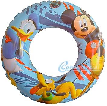Flotador en forma de anillo de Disney con diseño de Mickey Mouse, Donald