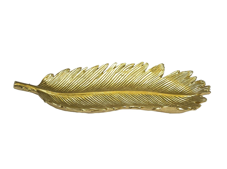 Amazon.com: Sagebrook Home 11604 Palm Leaf Decorative Plate, Gold ...