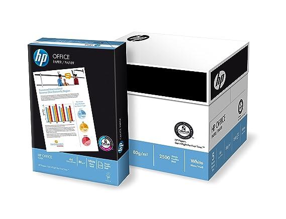 HP Office - Boîte de 5 rames de 500 feuilles de papier (2500 feuilles, A4, 80 g/m²) blanc