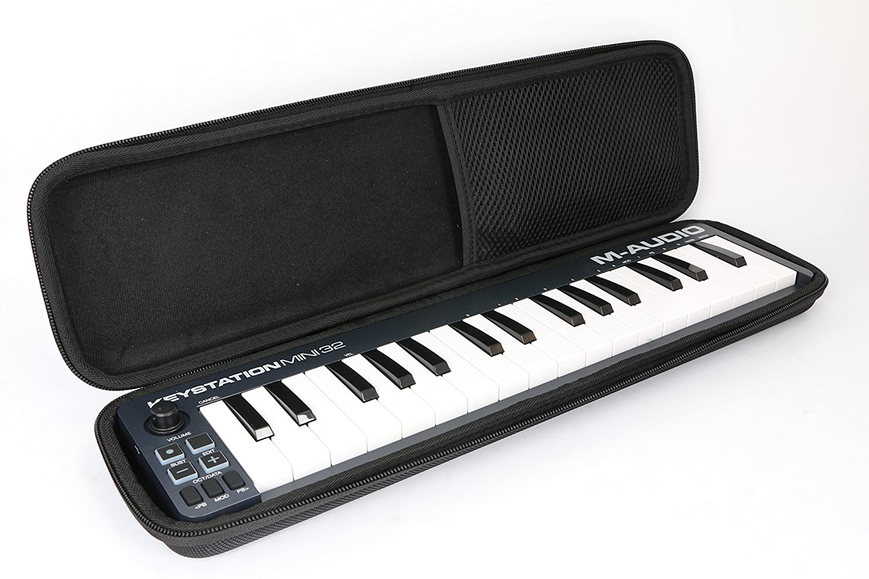 32 teclas USB//MID Duro Viaje Estuche Bolso Funda by Khanka para teclado M-Audio Mini 32 II port/átil