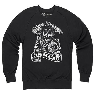 Official Sons of Anarchy - SAMCRO Reaper Sweatshirt mit Rundhals, Herren,  Schwarz, S
