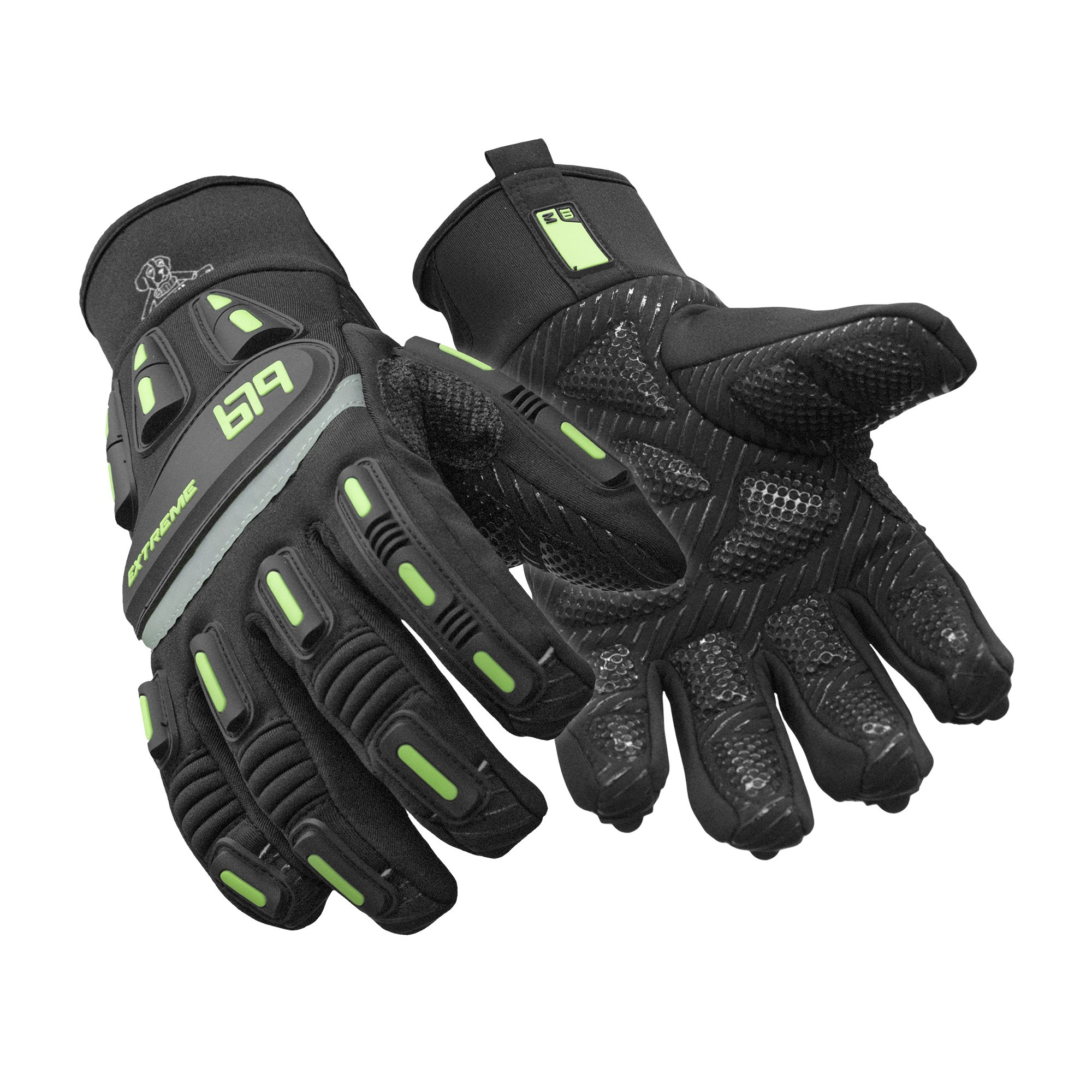 RefrigiWear Insulated Extreme Freezer Gloves with Grip Palm & Impact Protection (Black, 2XL) by RefrigiWear