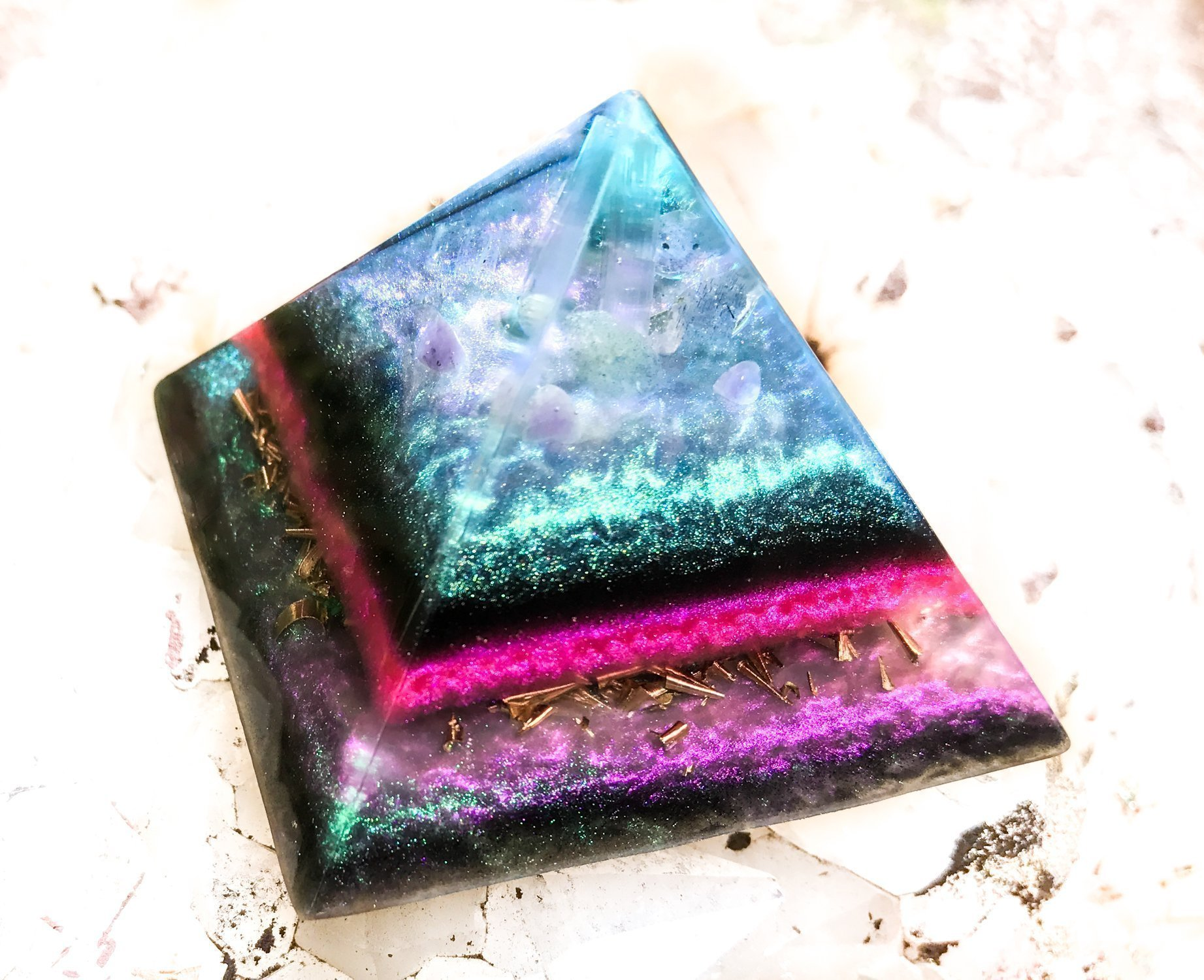 Orgonite Crystal Pyramid  Violet Flame Alchemy by Violet Flame Orgone