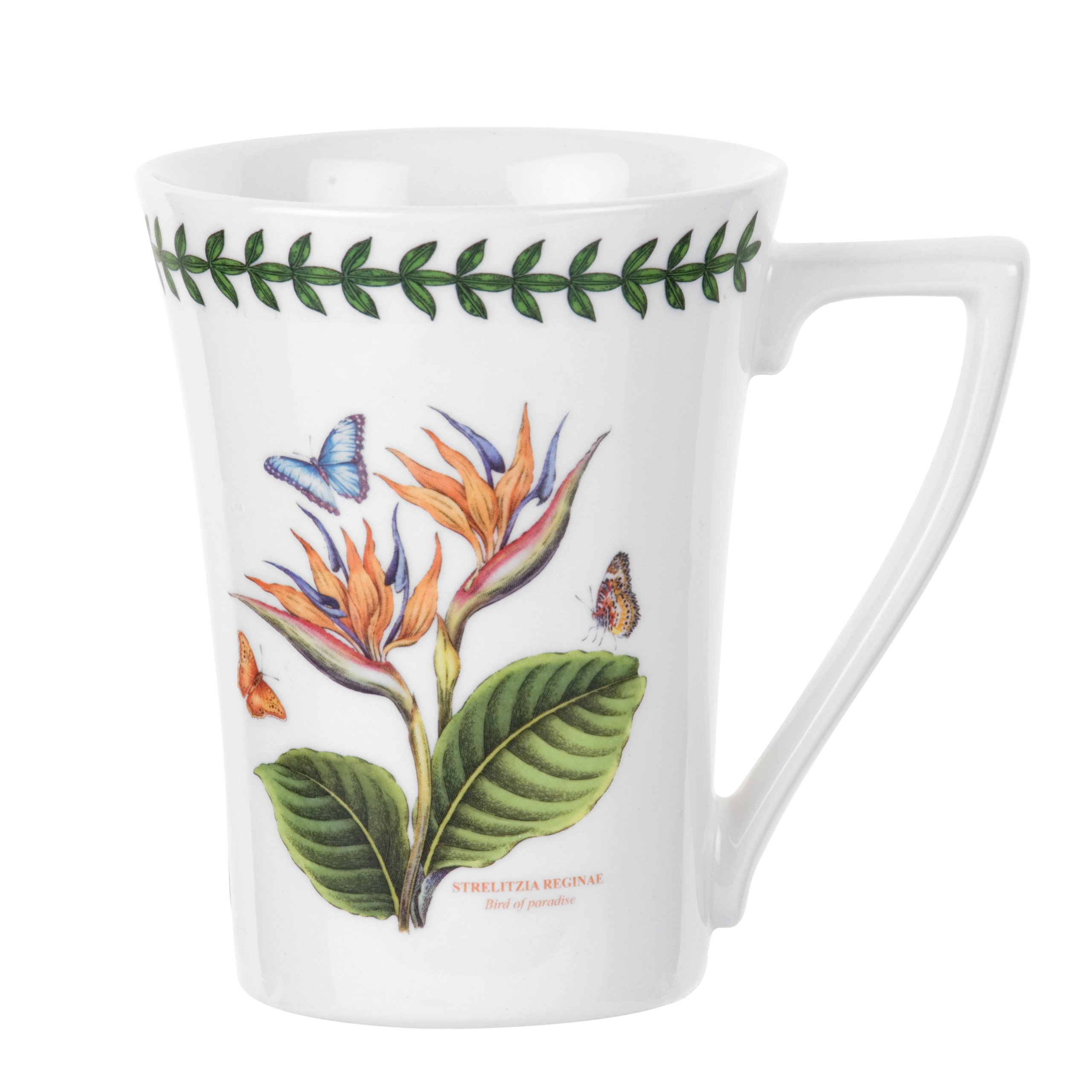 Portmeirion Exotic Botanic Garden Mandarin Mug with Bird of Paradise Motif, Set of 6 by Portmeirion