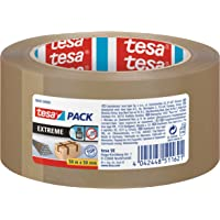 tesa Pak Extreme, premium pakketband, bijzonder klevend en scheurvast, ideaal voor het verpakken en bundelen van zware…