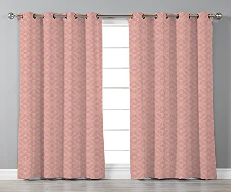 Amazoncom Iprint Stylish Window Curtainspeachabstract Background