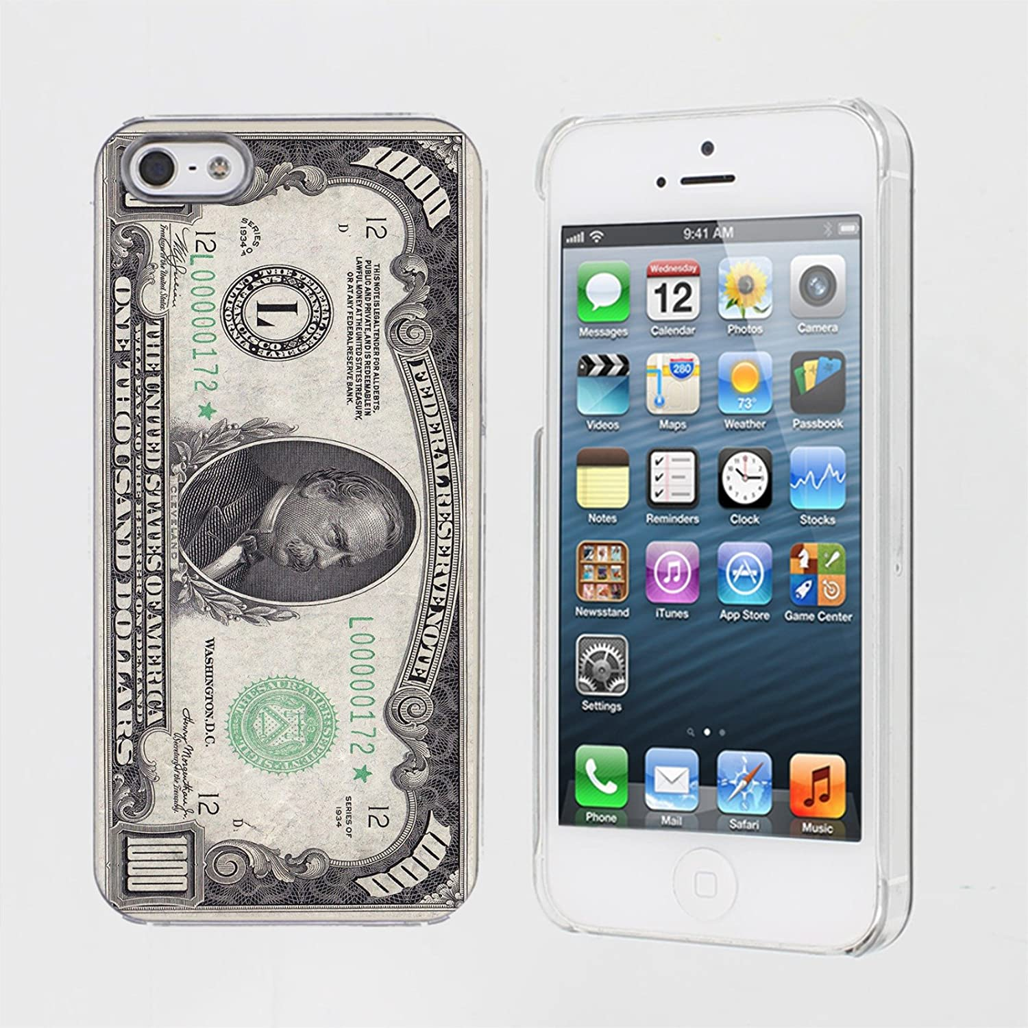 size 40 86338 3f663 Mobiflare, Slim Clip-on Phone Case, for [iPhone 5/5S] - Thousand Dollar Bill