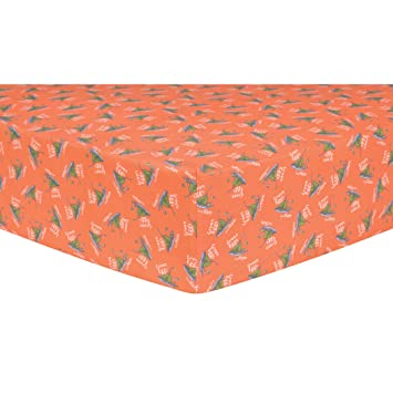 Amazon.com : Trend Lab Dr. Seuss Green Eggs and Ham Fitted Crib Sheet, Orange/Green/Yellow : Baby