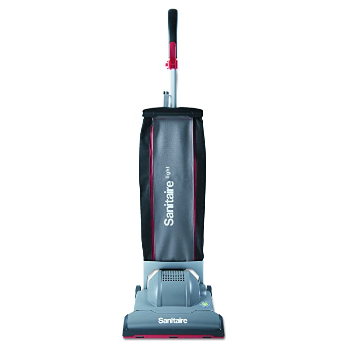 Sanitaire SC9050D EURSC9050D DuraLite Commercial Upright, 10.7 lb, Gray/Red