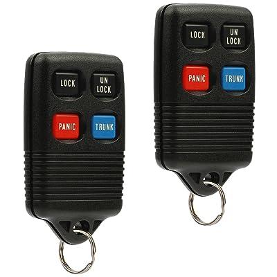 Car Key Fob Keyless Entry Remote fits Ford, Lincoln, Mercury Mustang (GQ43VT4T, 3165189, F5DZ-15K601-B), Set of 2: Automotive