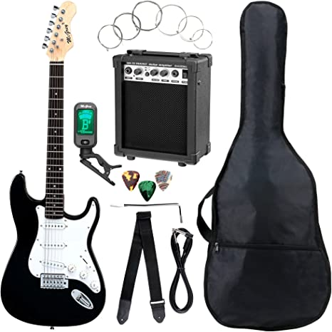 McGrey Rockit guitarra eléctrica set completo ST Black: Amazon.es ...