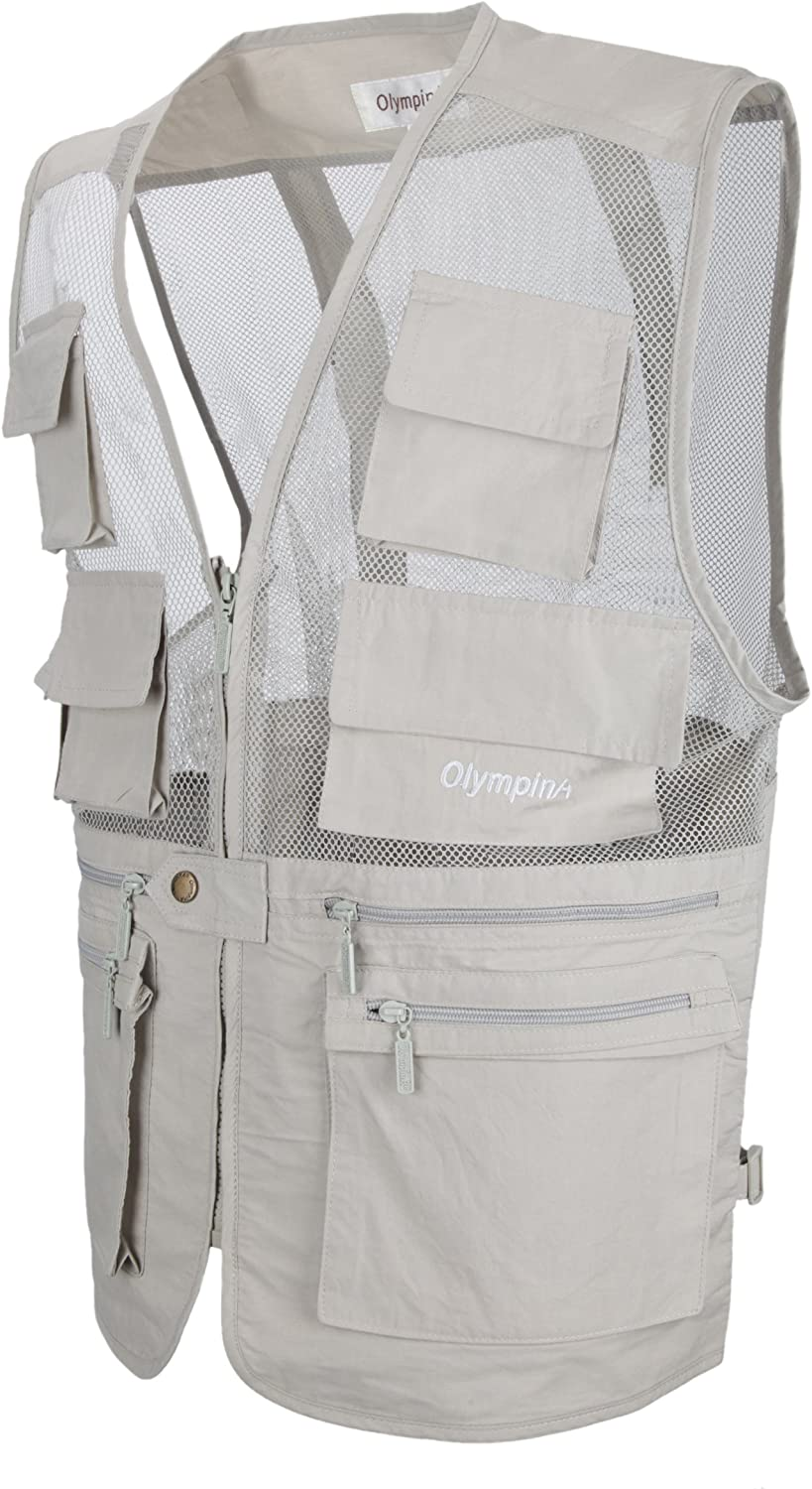 LUSI MADAM Mens Mesh Outdoor Fly Fishing Vest with Pockets